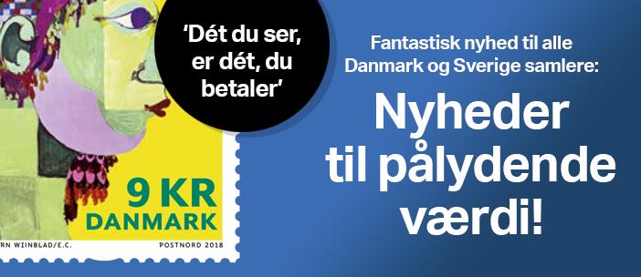 Fantastisk nyhed til alle Danmark og Sverige samlere