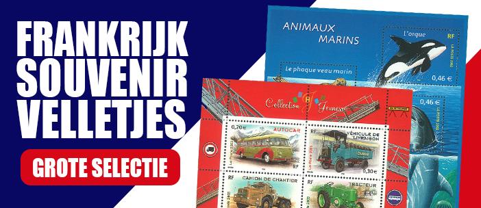 Frankrijk - Postfris souvenirvelletjes