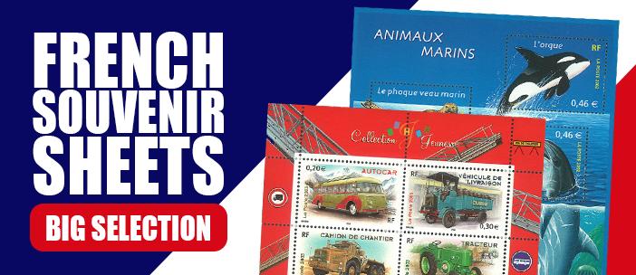 French souvenir sheets