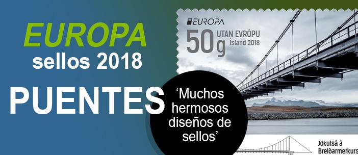 Sellos Tema Europa 2018 - Puentes